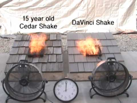 Cedar Shake Shingles Fire Test