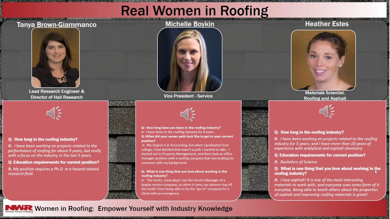 Roofing Industry Careers for Women