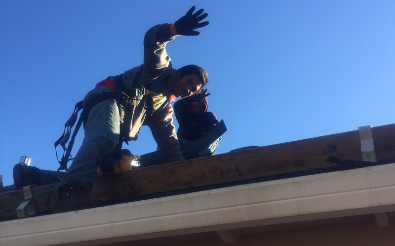Tresa-Pate-with-Interstate-Roofing-in-Portland-OR-Waving-Roofers